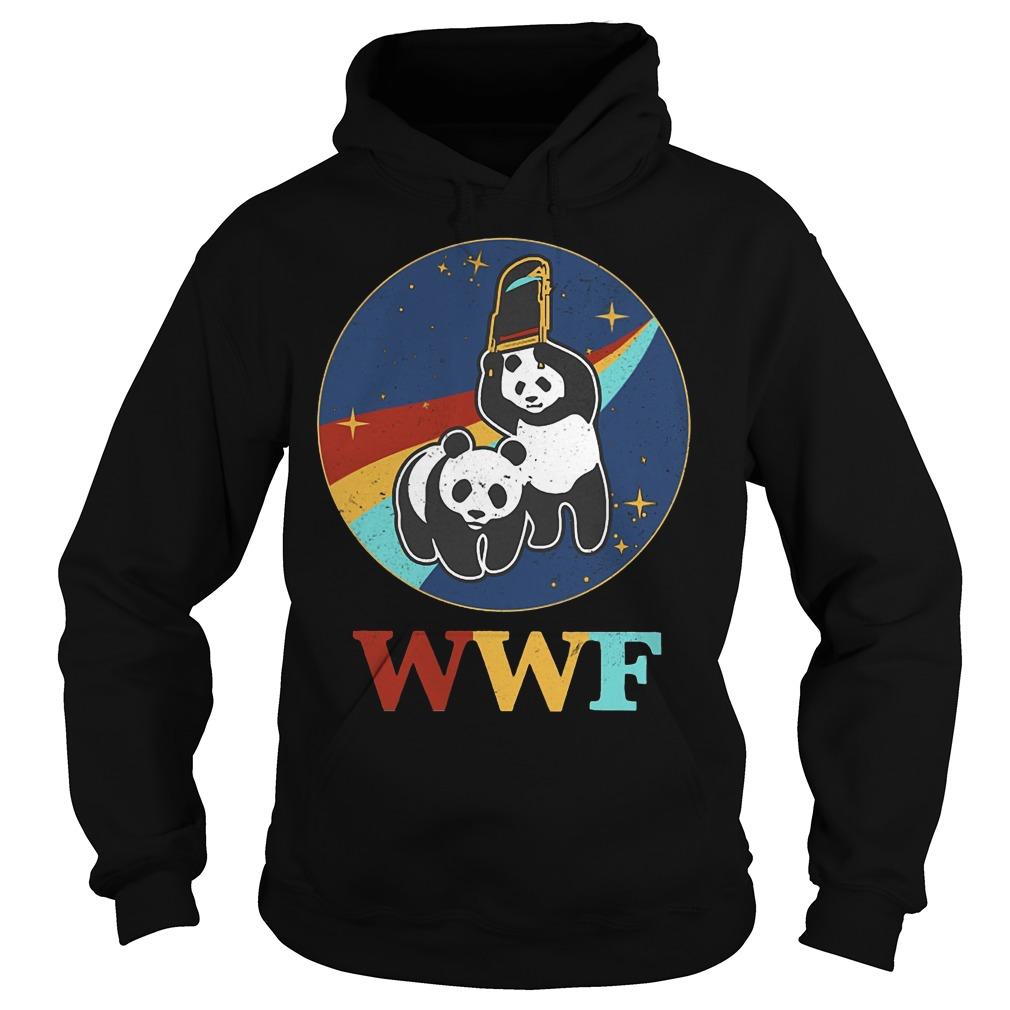 WWF panda wrestling save the panda Hoodie