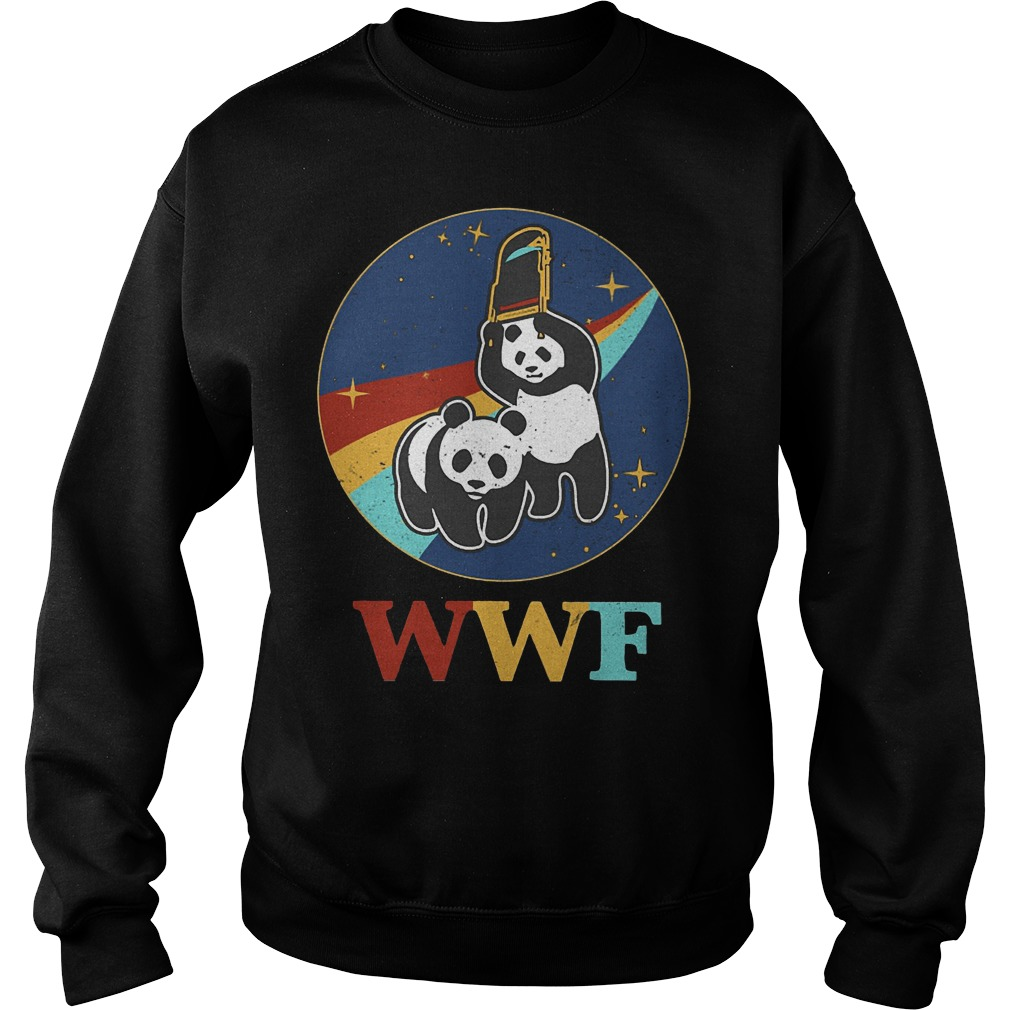 WWF panda wrestling save the panda Sweater