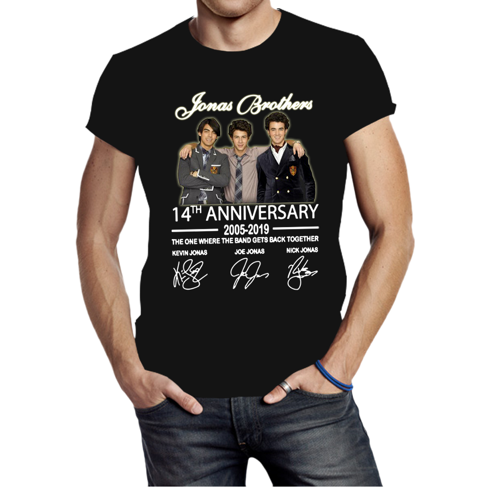 09b154a56 Jonas Brothers 14th anniversary signatures shirt, hoodie, tank top ...