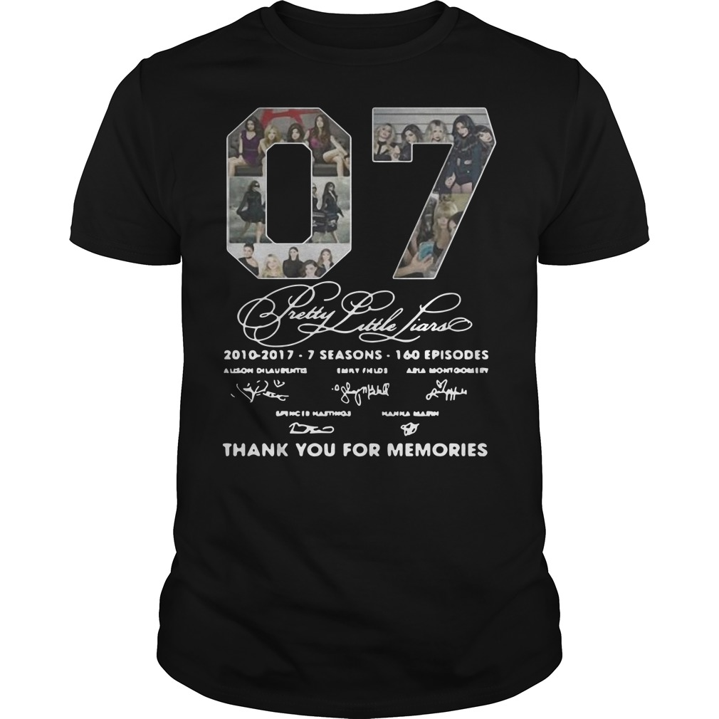 07 Pretty Little Liars Thank You For Memories Guys t-shirt