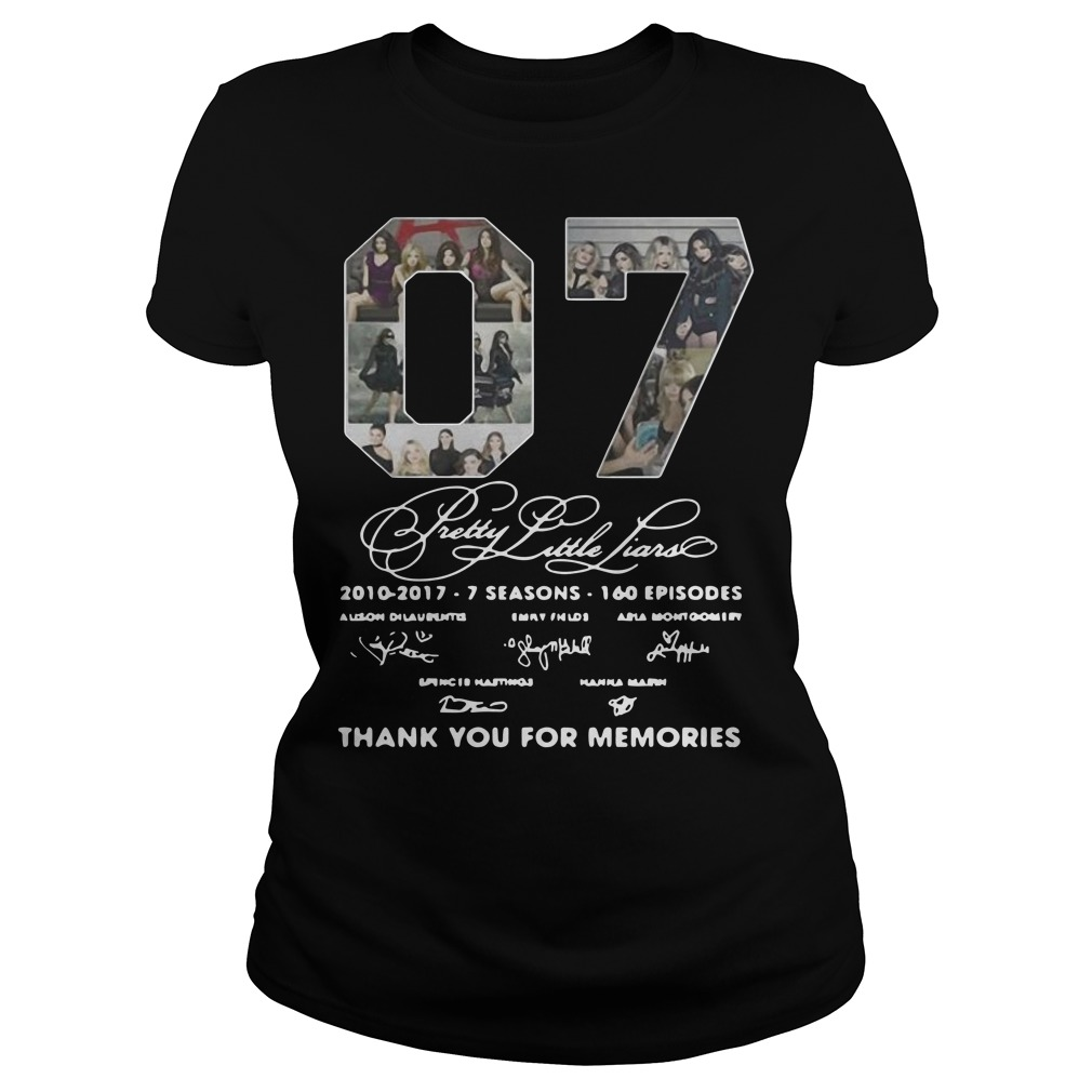 07 Pretty Little Liars Thank You For Memories Ladies t-shirt