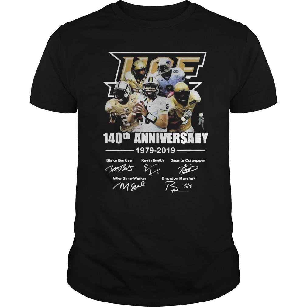 140th Ucf anniversary 1979 2019 signature Guys t-shirt