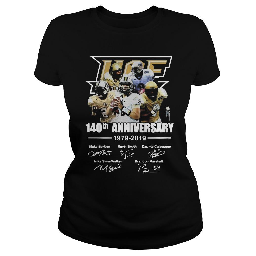 140th Ucf anniversary 1979 2019 signature Ladies t-shirt