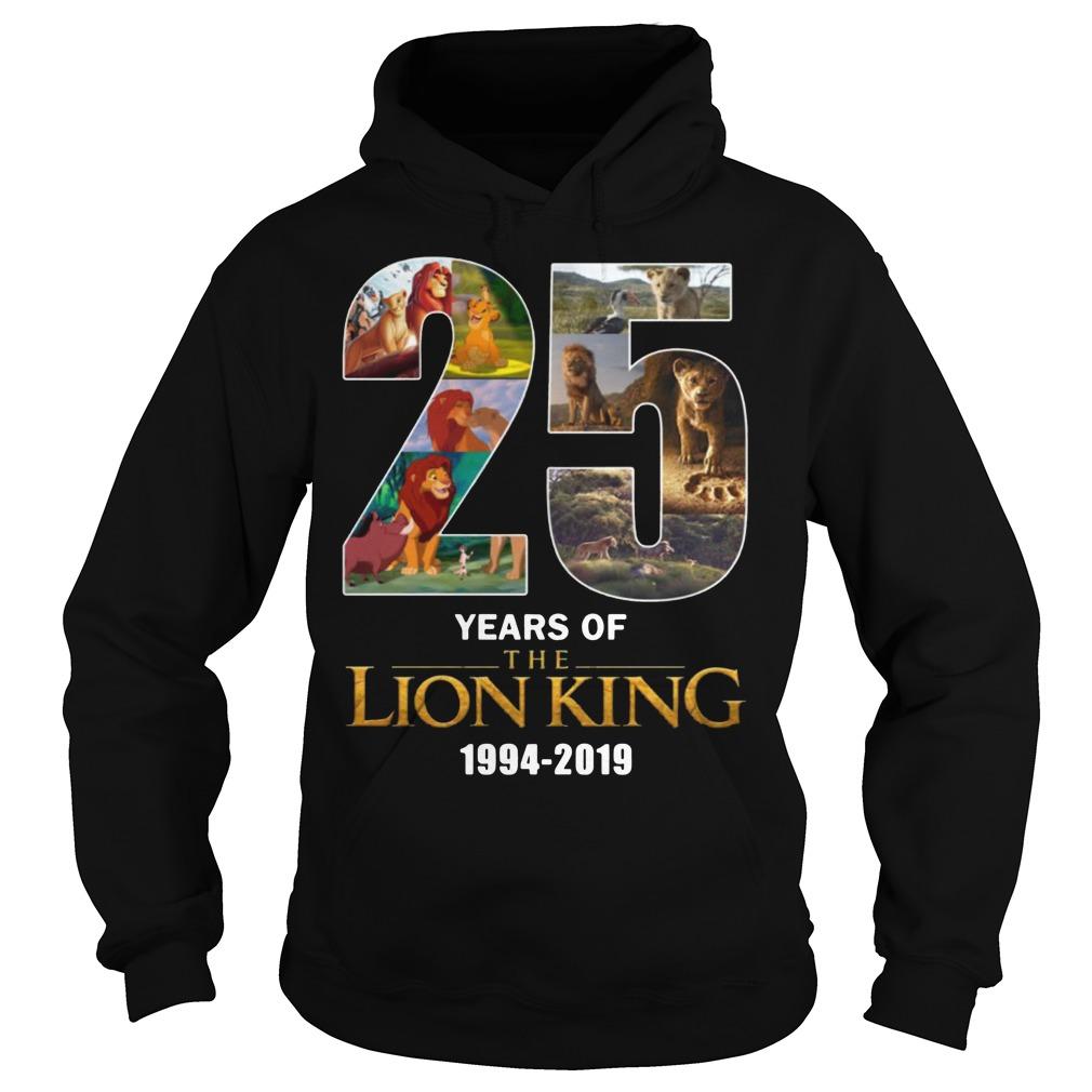 25 Years Of Lion King 1994-2019 Hoodie