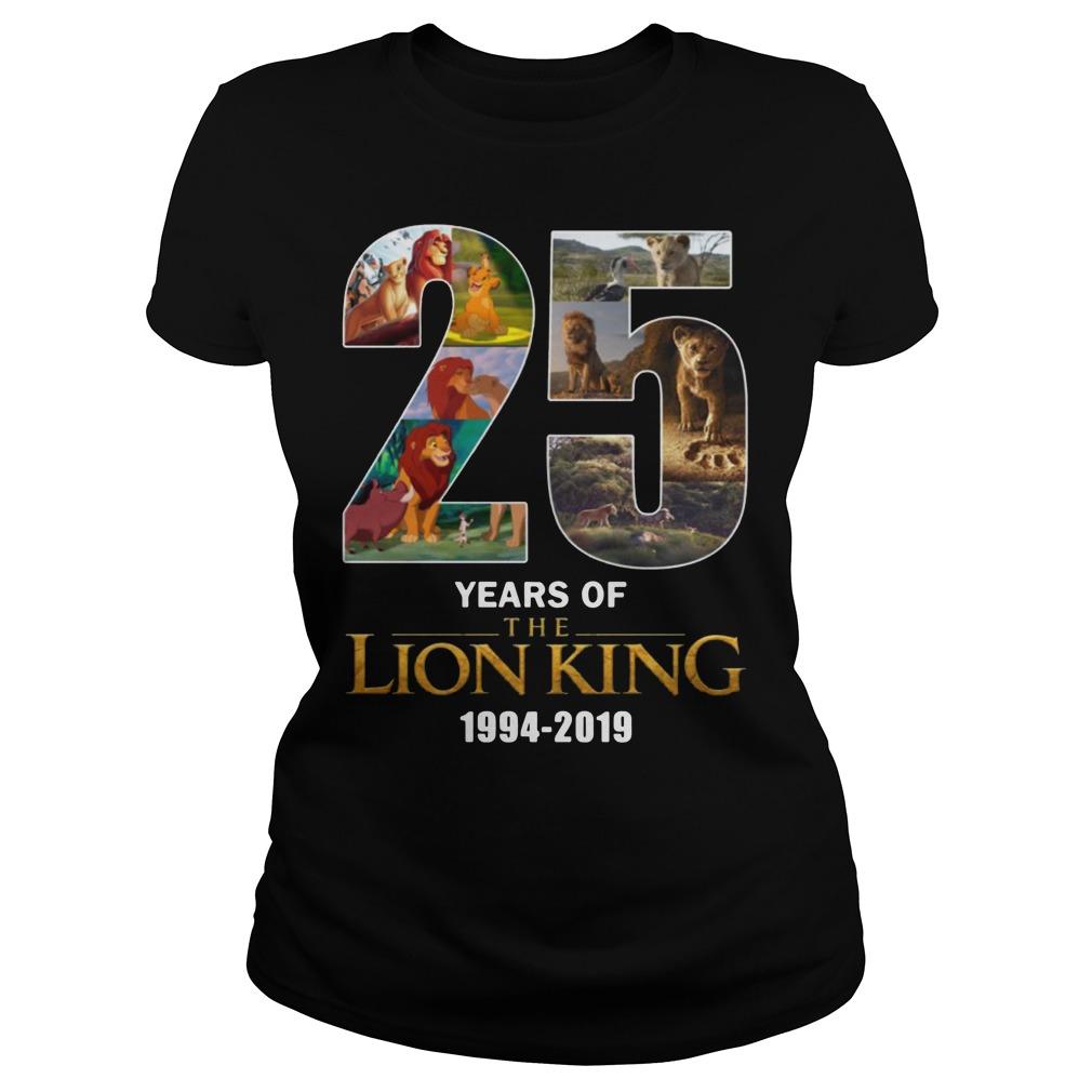 25 Years Of Lion King 1994-2019 Ladies t-shirt