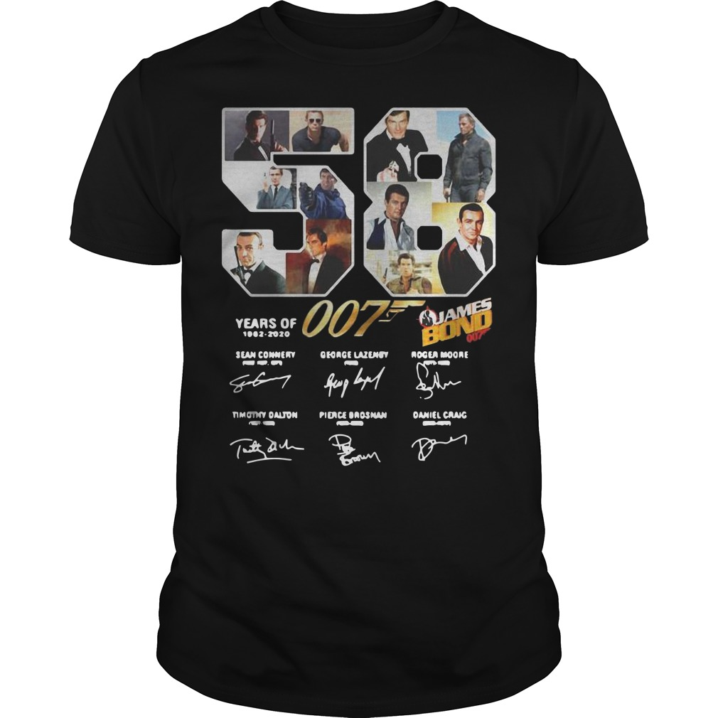 58 Years Of James Bond Signature Guys t-shirt