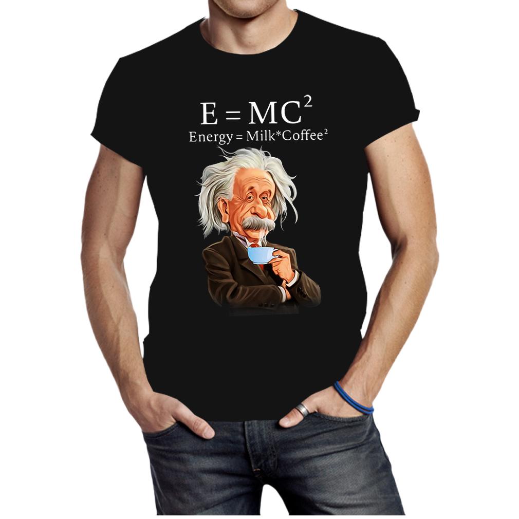 Albert Einstein E=mc2 Energy Milk Coffee shirt