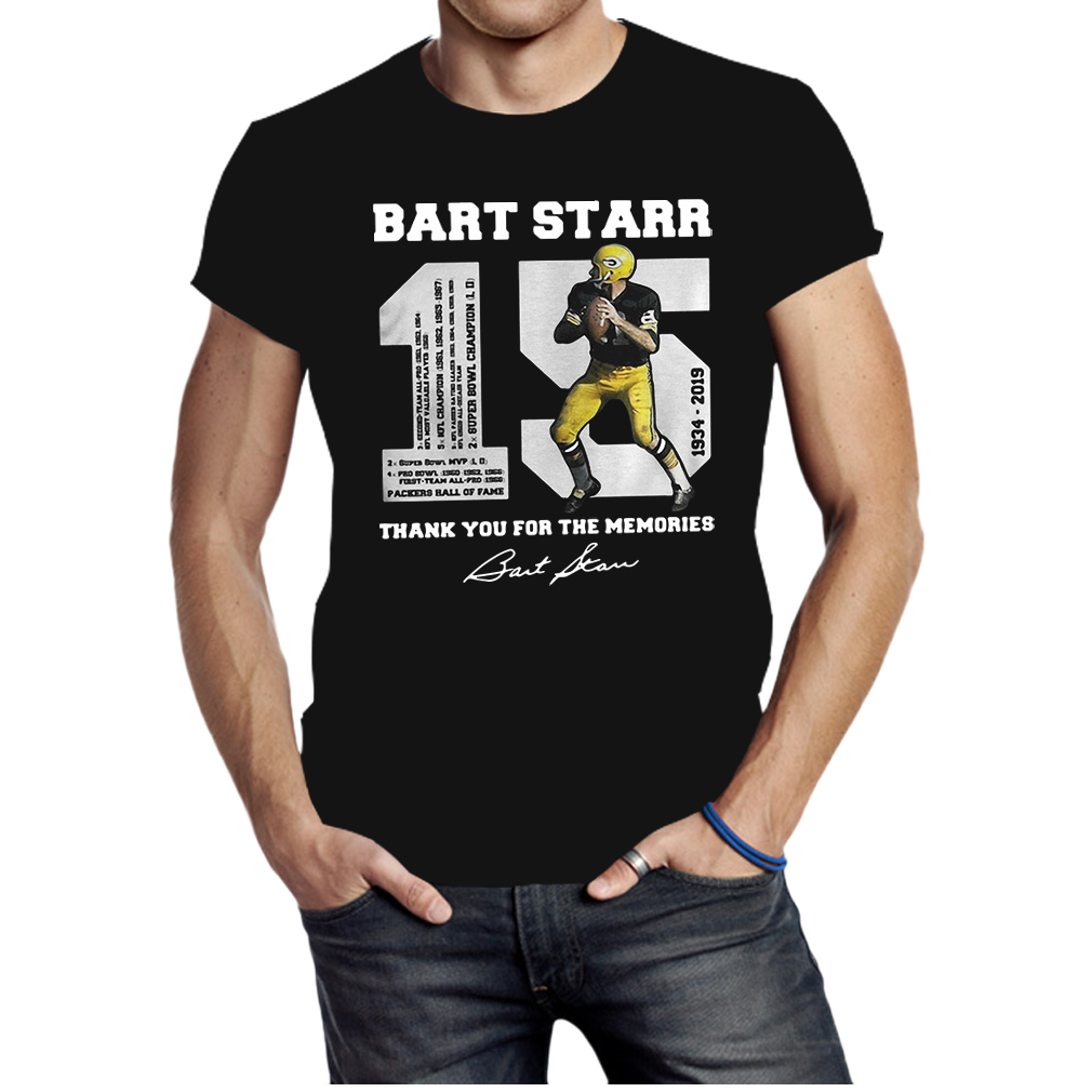 Bart Starr 15 1934 2019 thank you for the memories shirt