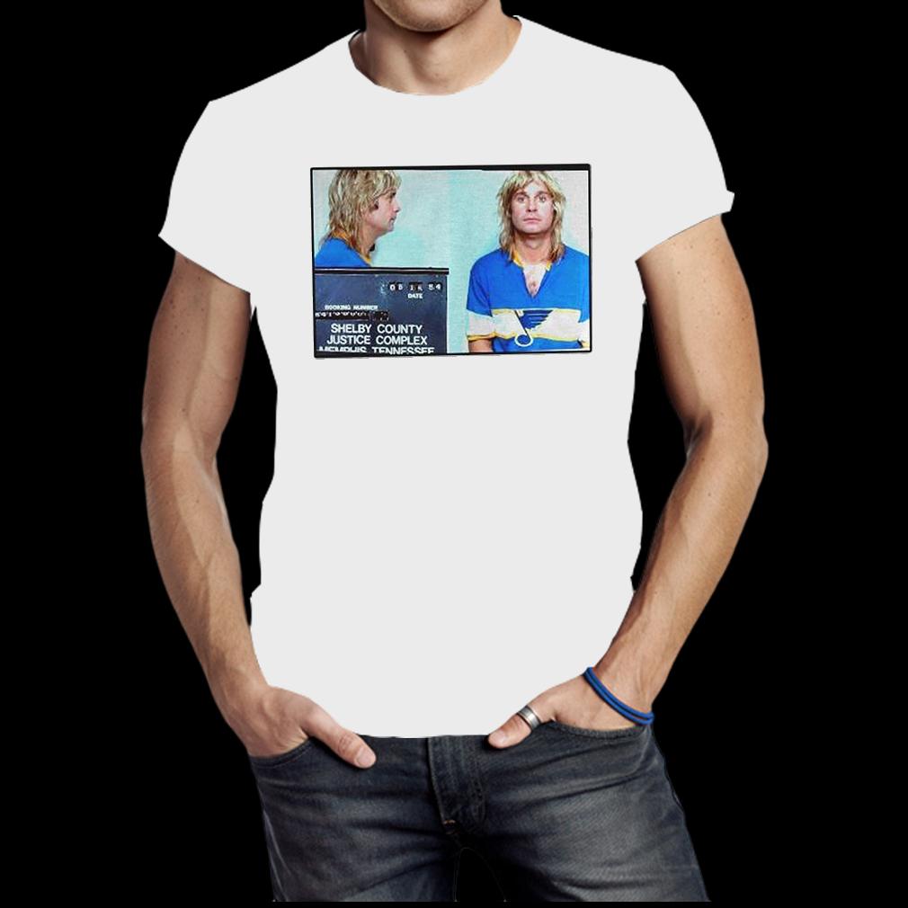 Ozzy Osbourne Blues Jersey Mugshot shirt