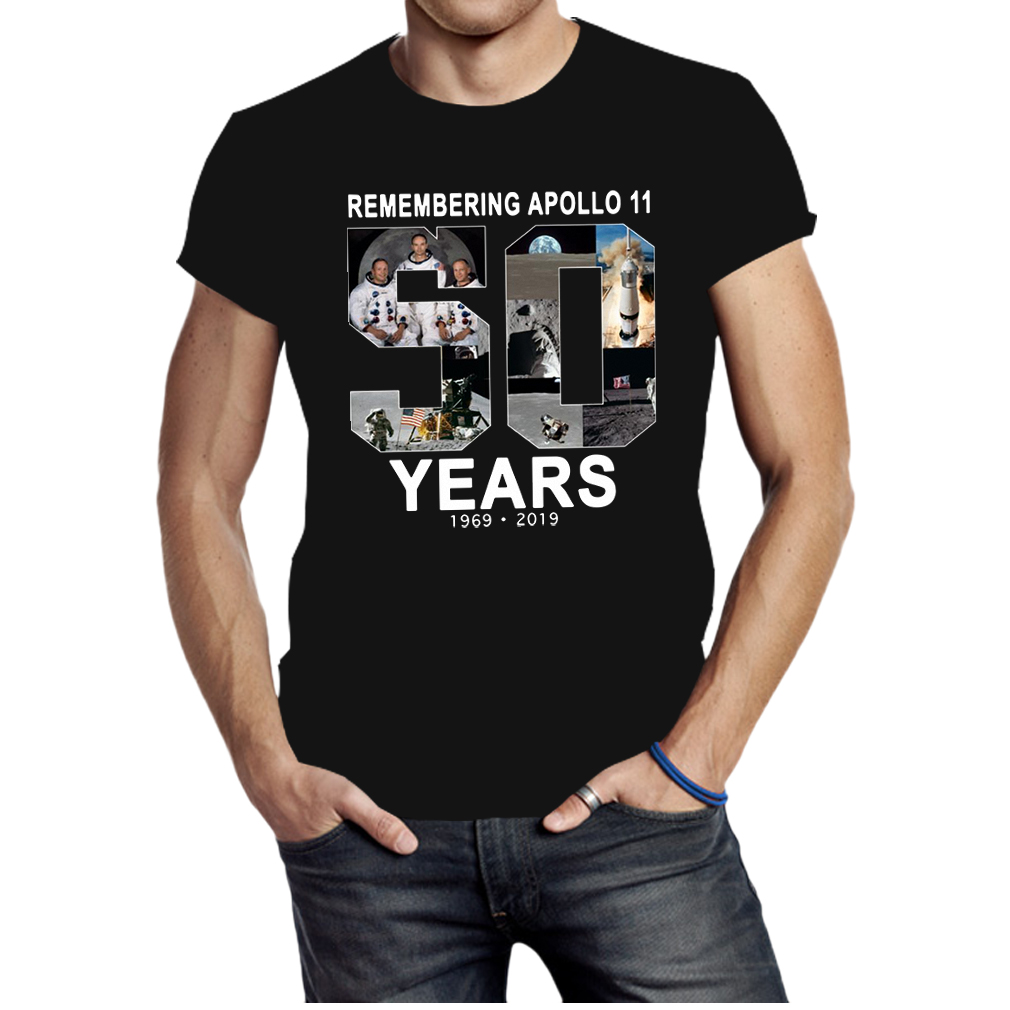 Remembering Apollo 11 50 Years 1969 2019 shirt