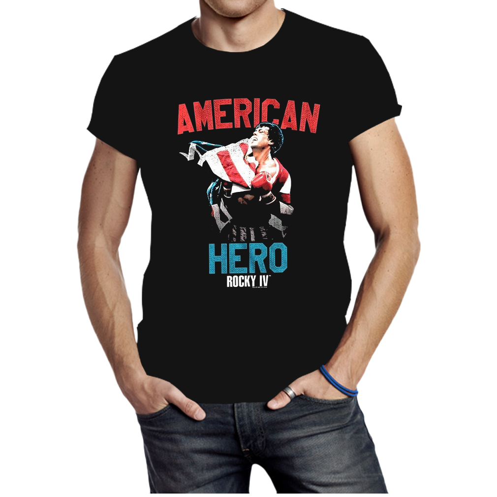 Rocky IV Movie Stallone American Hero Flag shirt