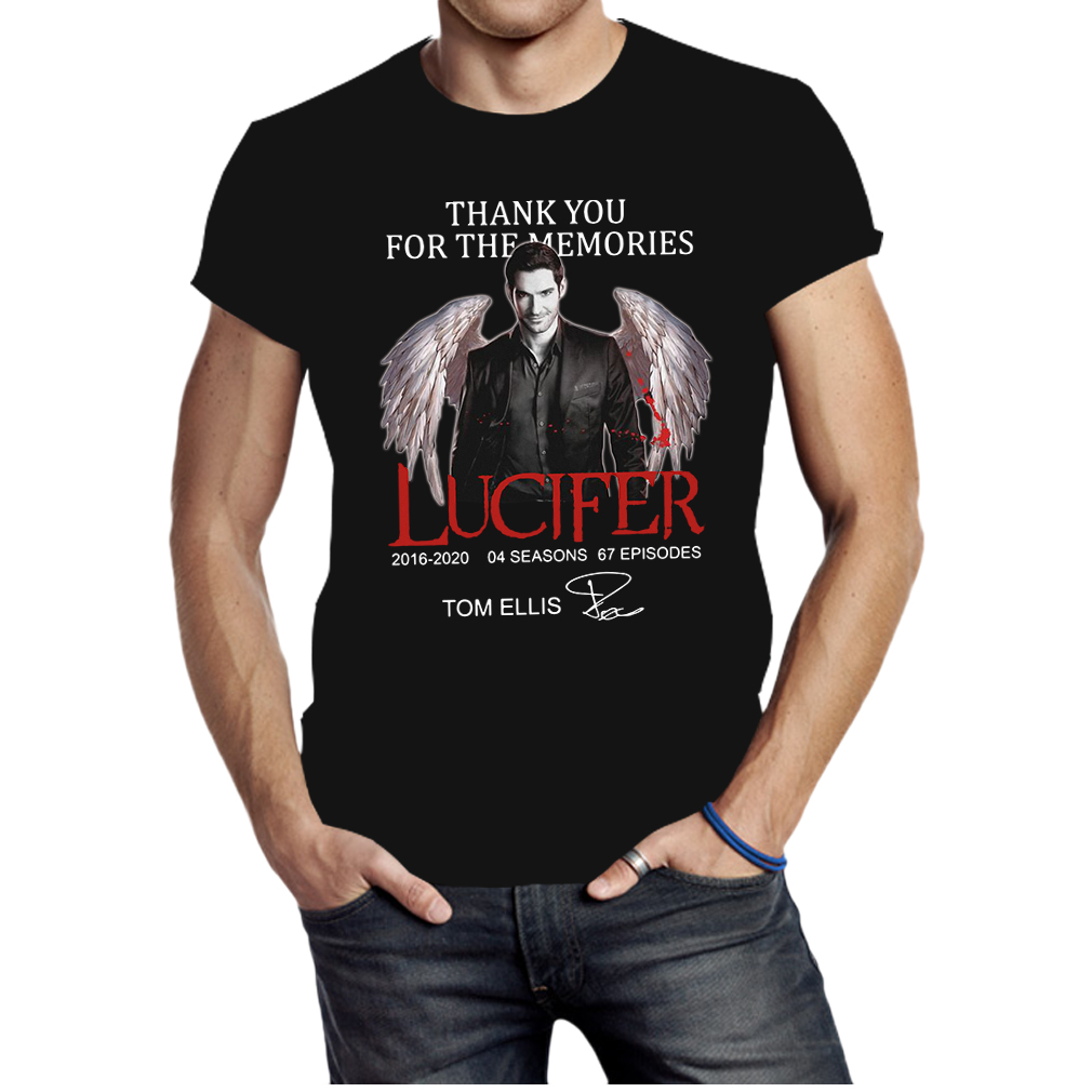Thank you for the memories Lucifer Tom Ellis signature shirt