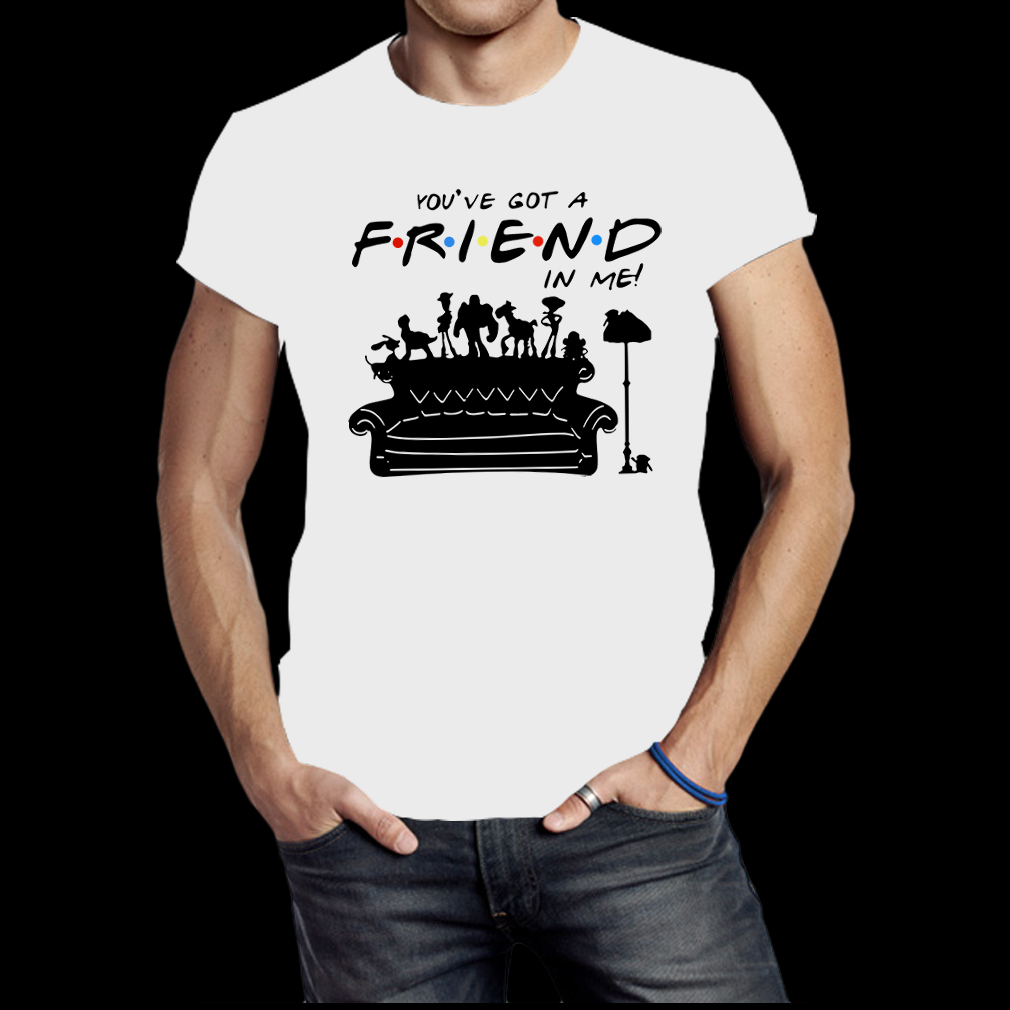 Toy story group of friends you've got a friends in me shirt