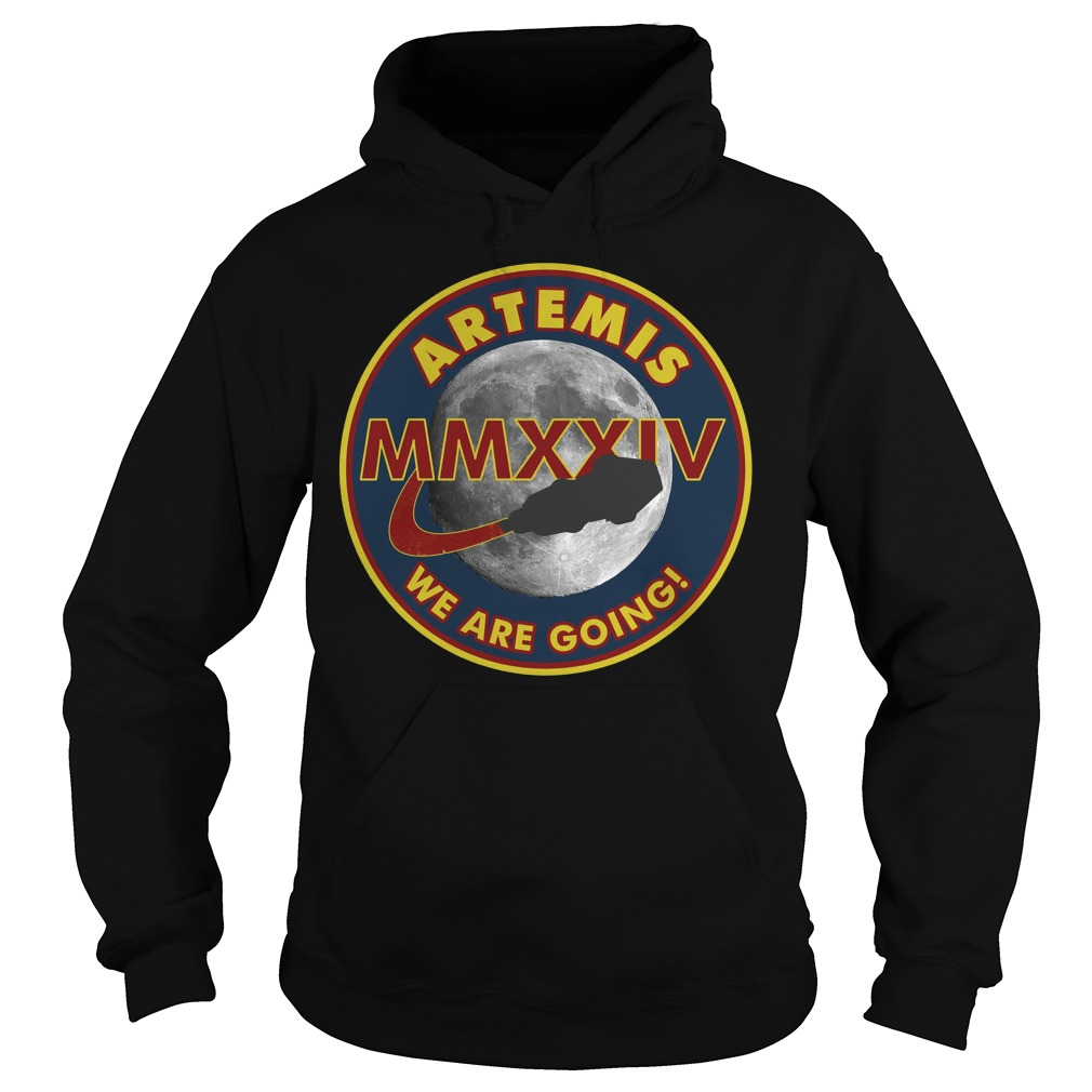 Artemis We Are Going Moon Mission 2024 Nasa MMXXIV Hoodie