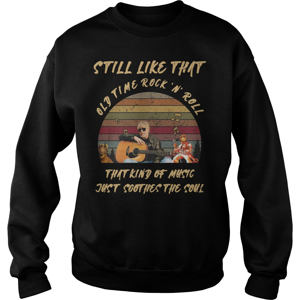 Bob Seger still like that old time rock 'n' roll that kind of music just soothes the soul vintage Sweater
