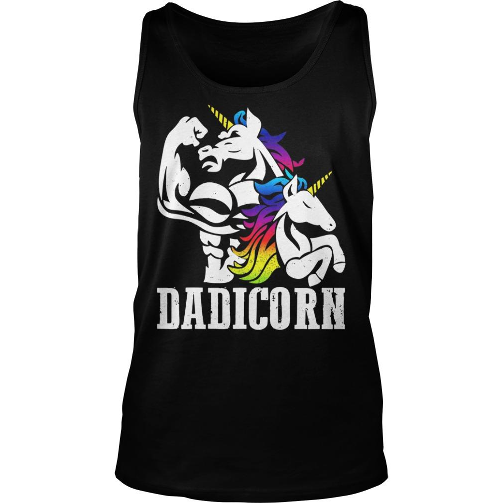 Dadicorn Dad Unicorn Fathers Day Tank top