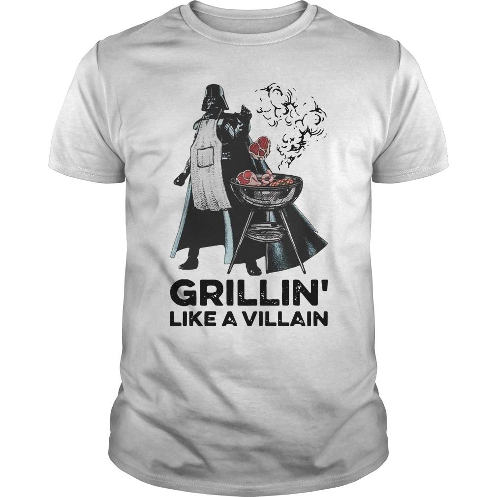 Darth vader grillin like a villain Guys t-shirt