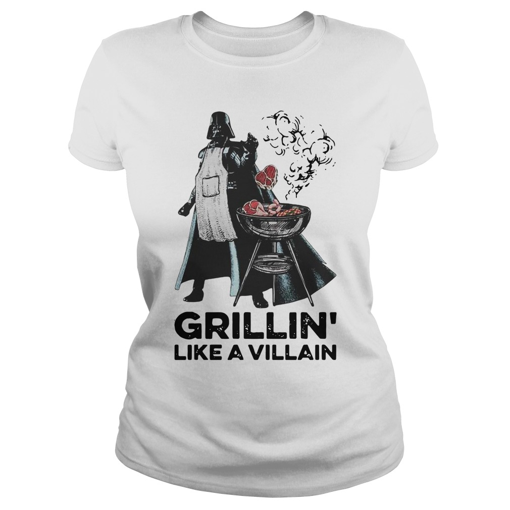 Darth vader grillin like a villain Ladies t-shirt