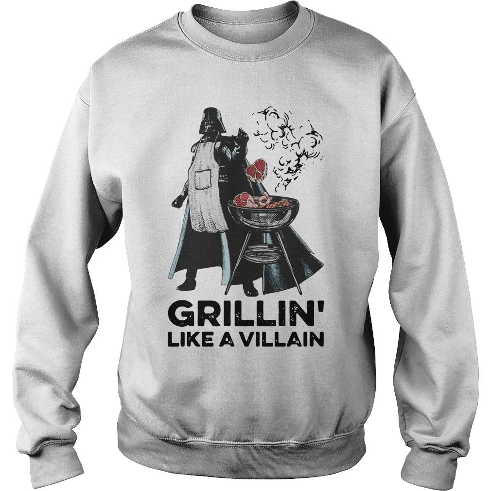 Darth vader grillin like a villain Sweater