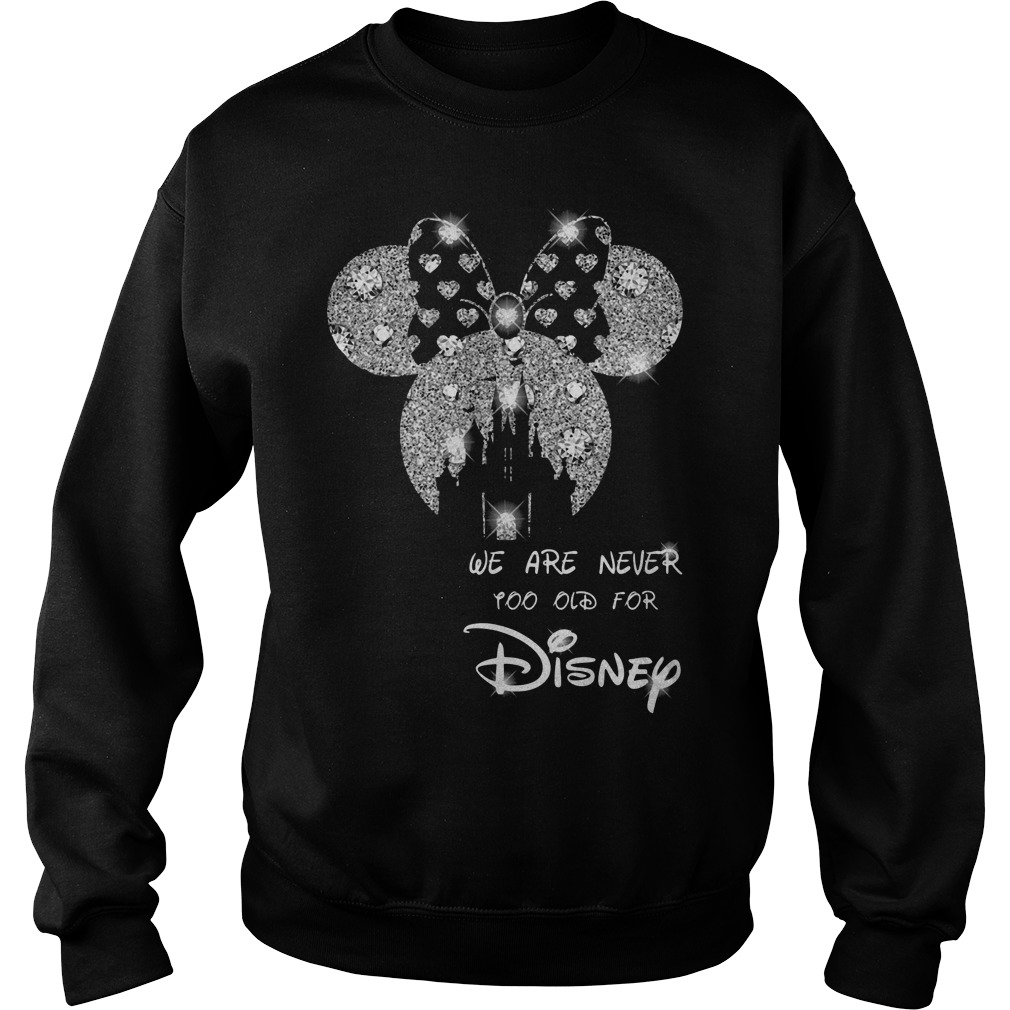 Diamond Mickey Mouse we are never too old for Disney Sweater
