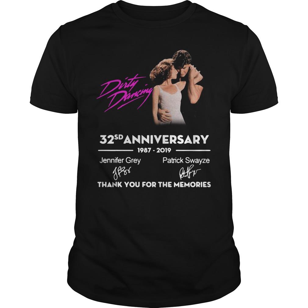 Dirty Dancing 32nd anniversary 1987-2019 signatures Guys t-shirt