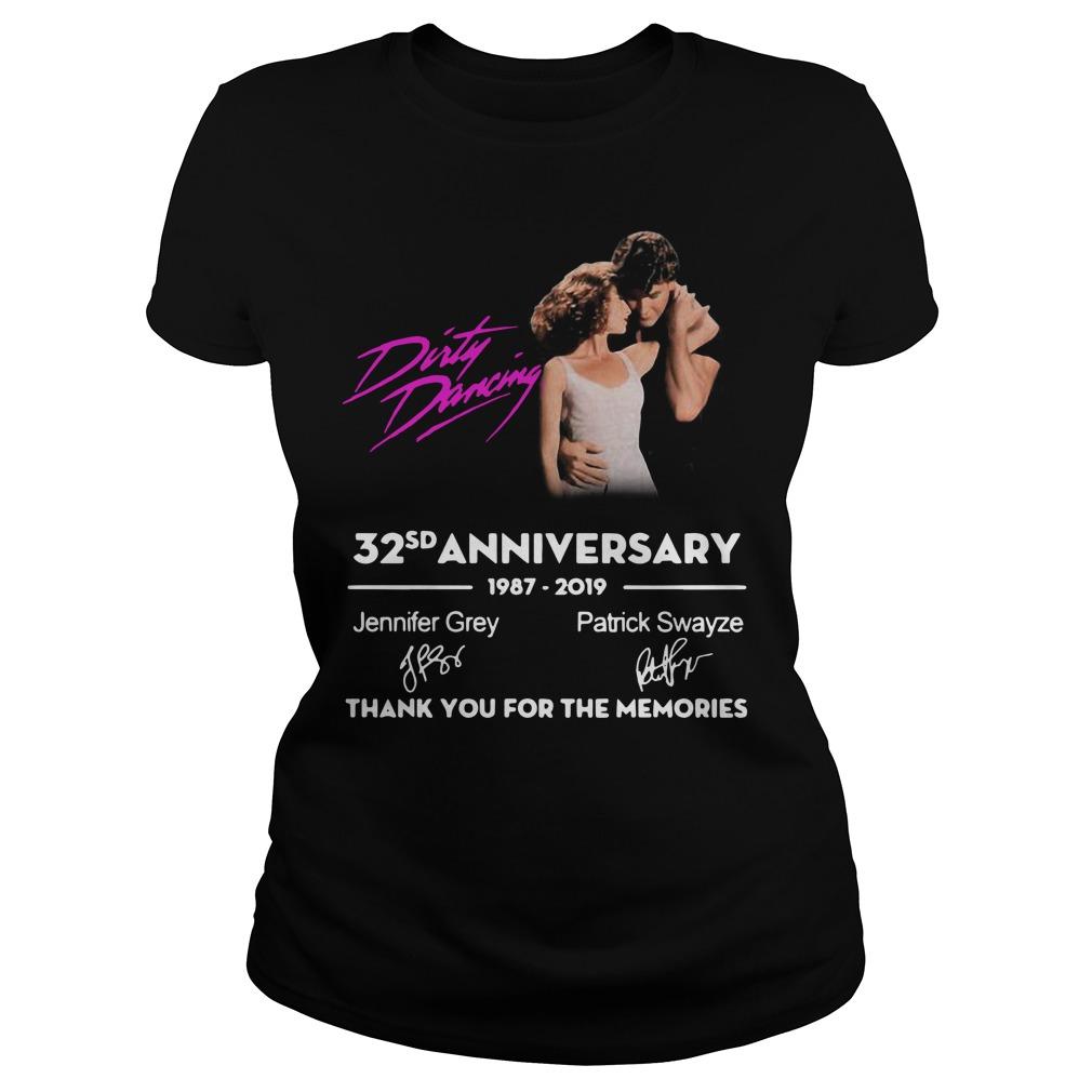 Dirty Dancing 32nd anniversary 1987-2019 signatures Ladies t-shirt