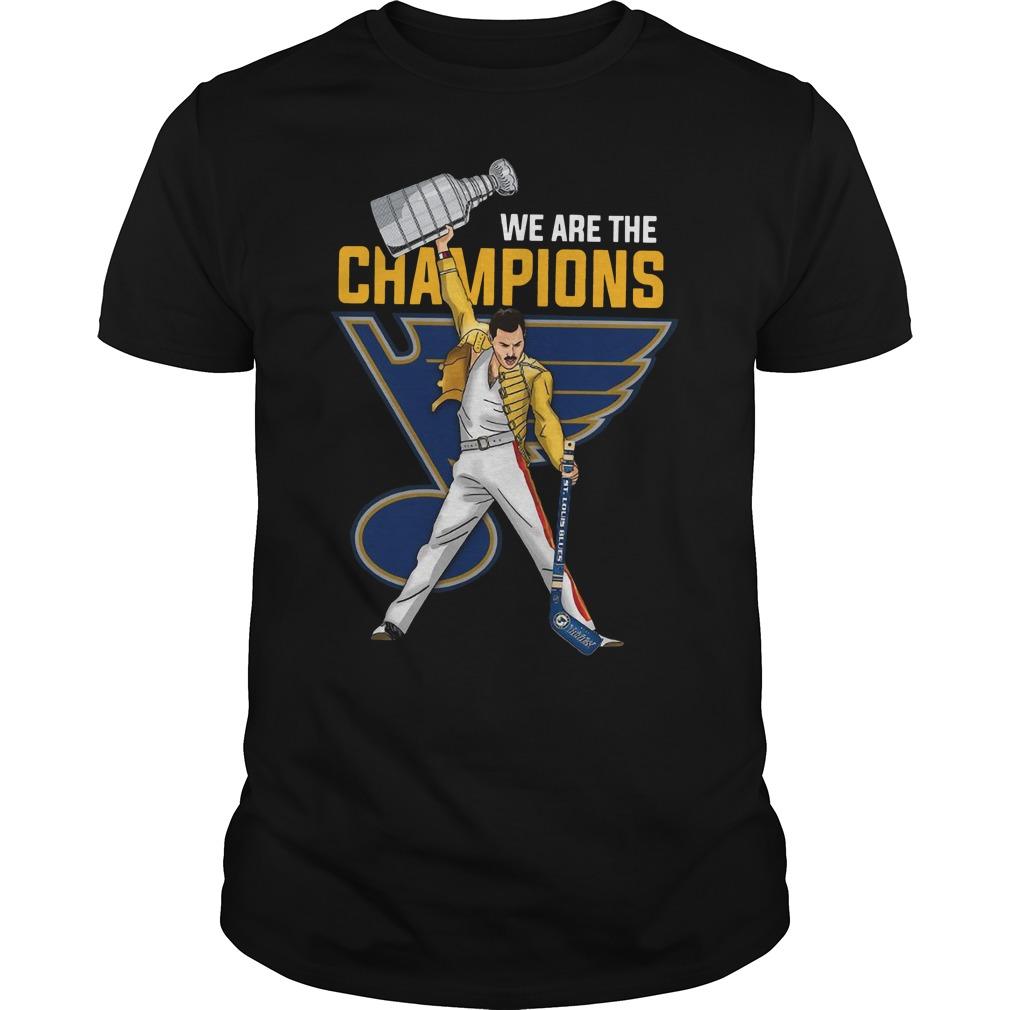Freddie Mercury St. Louis Blues We Are Champions Guys t-shirt