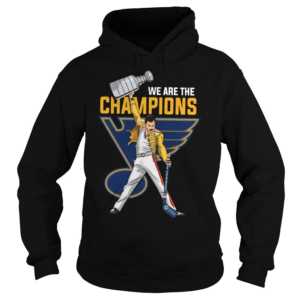 Freddie Mercury St. Louis Blues We Are Champions Hoodie