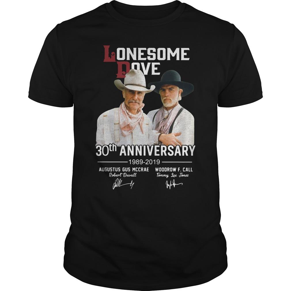 Lonesome dove 30th anniversary 1989 2019 signature Guys t-shirt