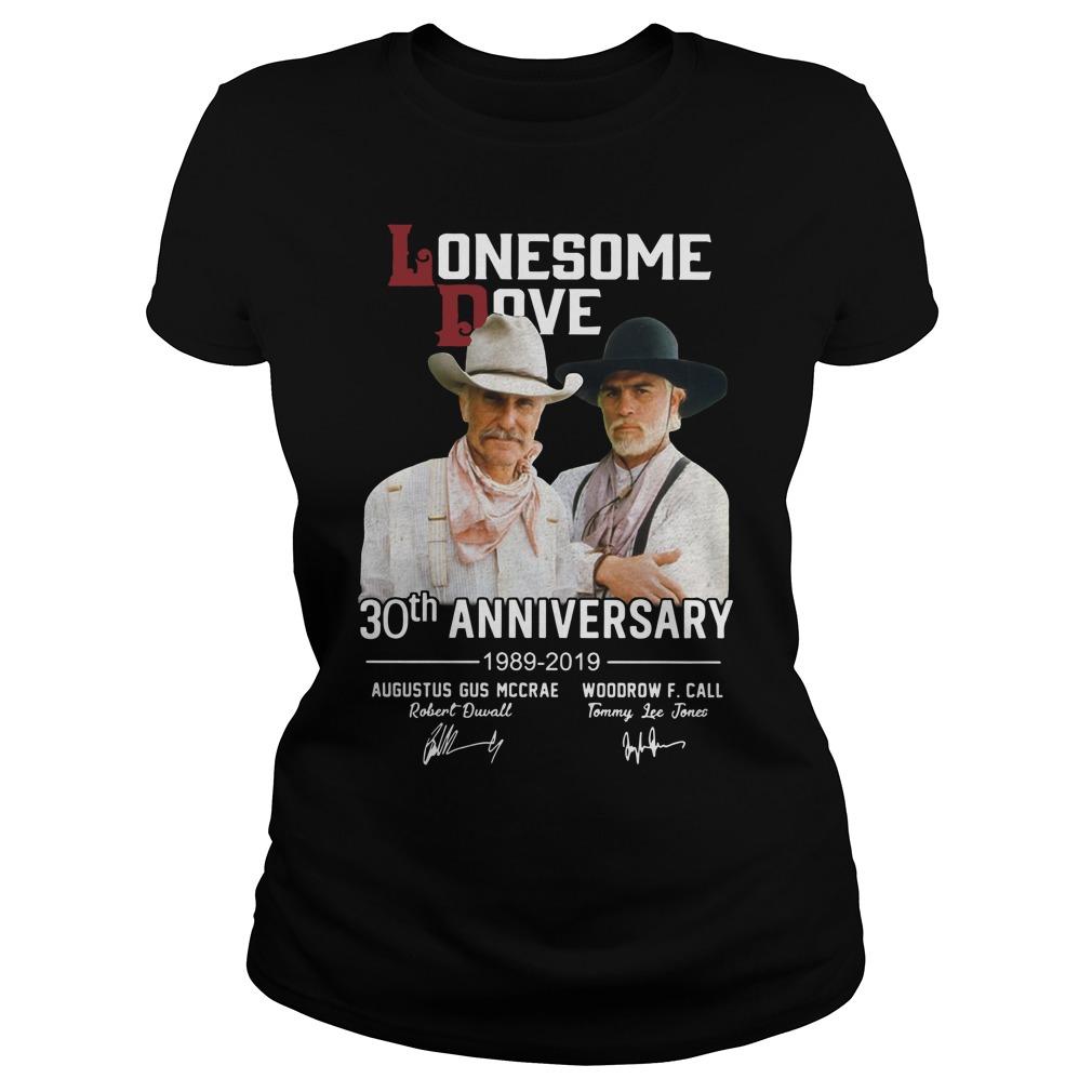 Lonesome dove 30th anniversary 1989 2019 signature Ladies t-shirt