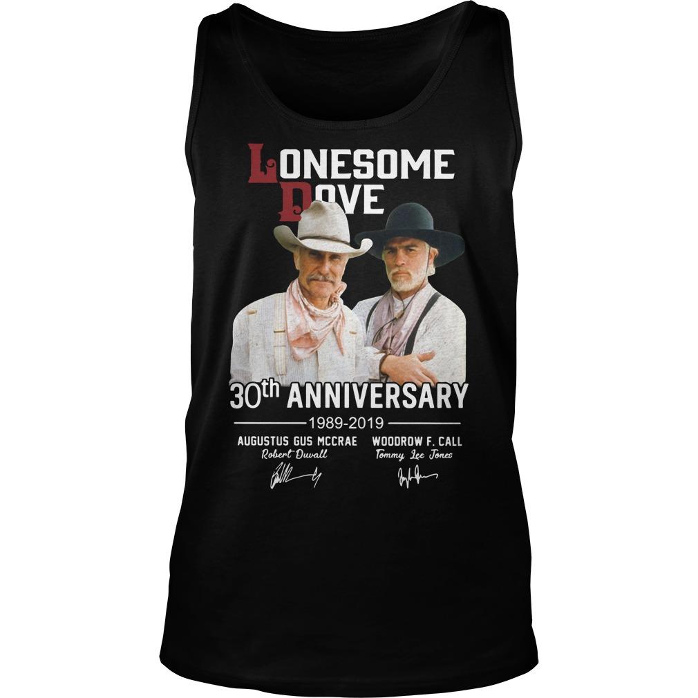 Lonesome dove 30th anniversary 1989 2019 signature Tank top