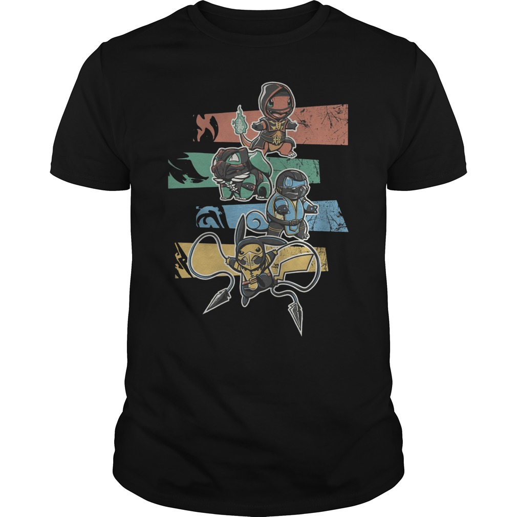 Mortal Kombat Pokemon Guys t-shirt