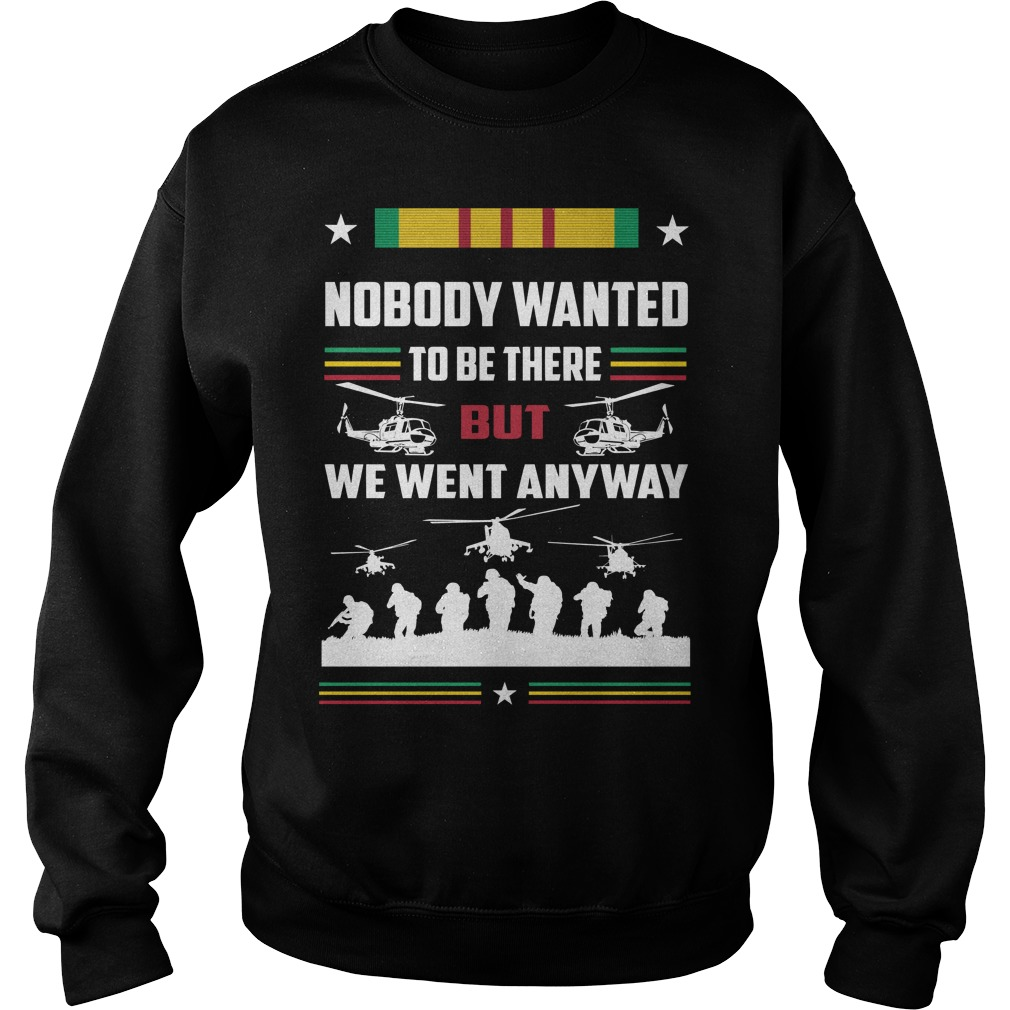 Nobody wanted to be there but we went anyway Sweater