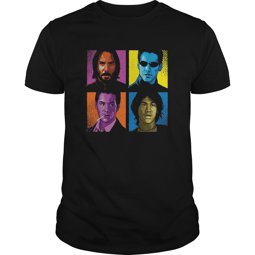 Pop Keanu Reeves Movies Guys t-shirt