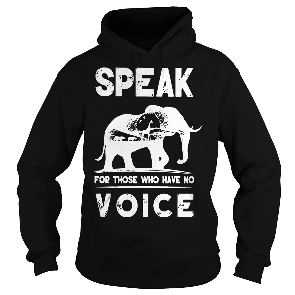 Speak for those who have no voice Hoodie
