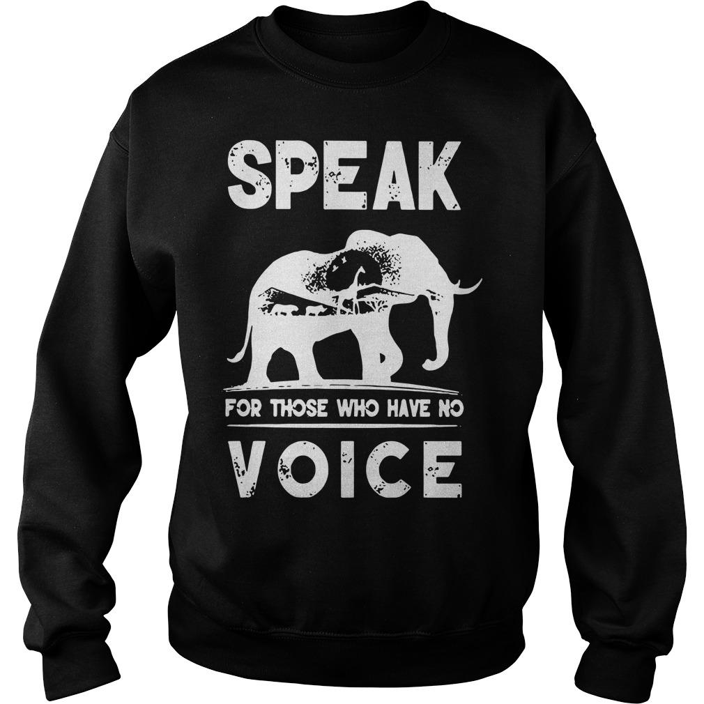 Speak for those who have no voice Sweater