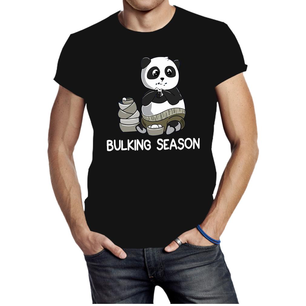 Bulking Season Panda Funny Weightlifting Gym shirt