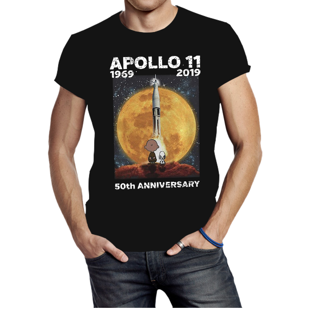 Charlie and Snoopy Apollo 11 50th anniversary shirt