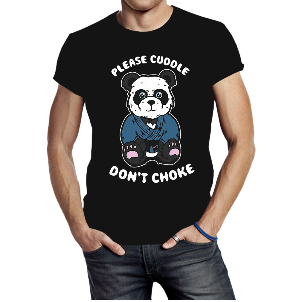 Please cuddle don't choke Brazilian Jiu-jitsu, Mma, Bjj panda shirt