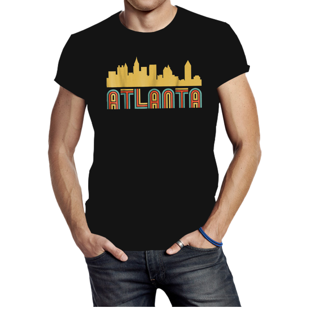 Vintage retro atlanta georgia skyline shirt
