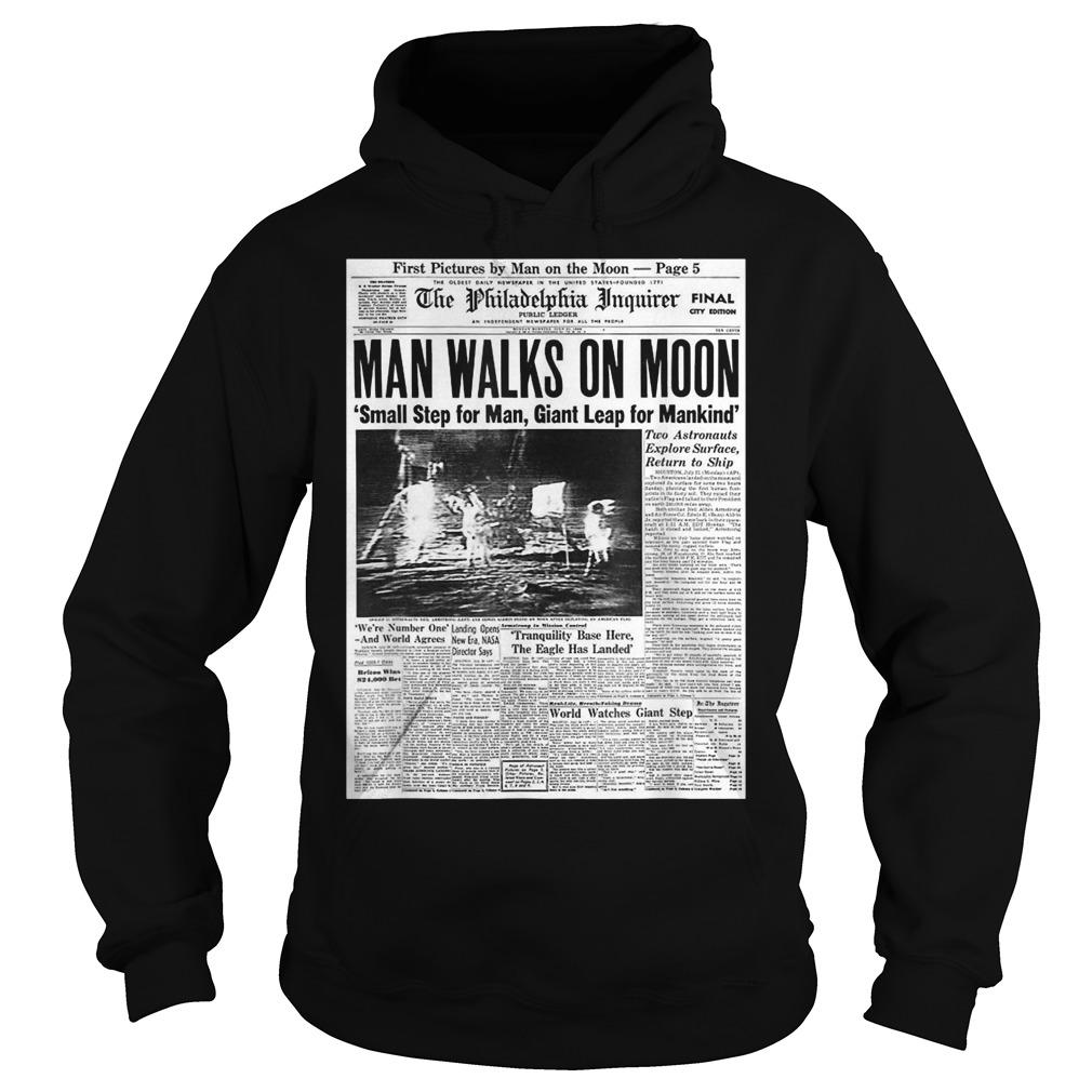 Apollo 11 50th Anniversary Moon Landing 1969 Newspaper Hoodie