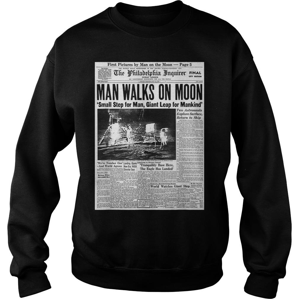 Apollo 11 50th Anniversary Moon Landing 1969 Newspaper Sweater