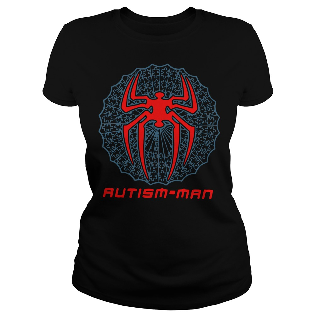 Autism Man Spider Man Ladies t-shirt
