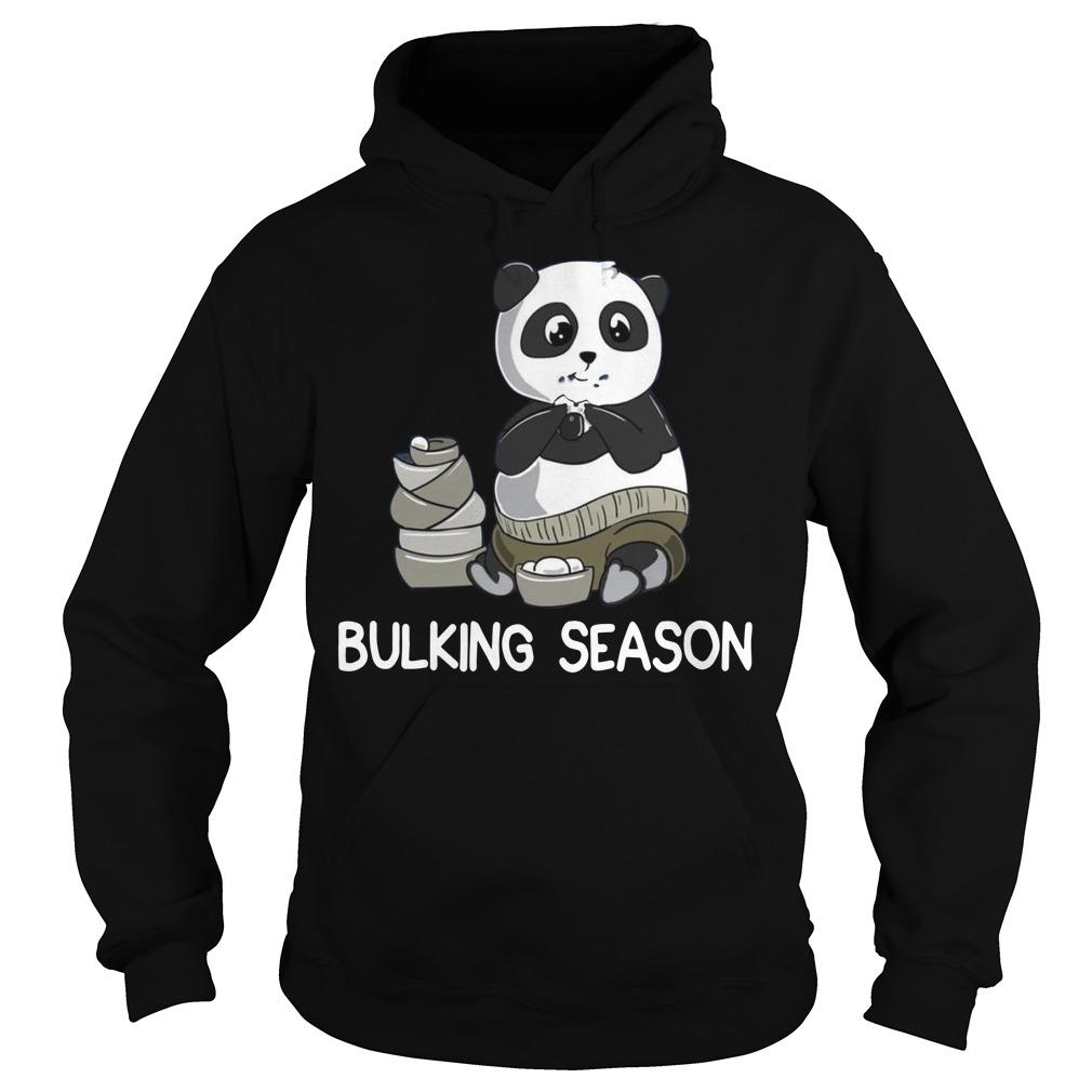 Bulking Season PandaFunny Weightlifting Gym Hoodie