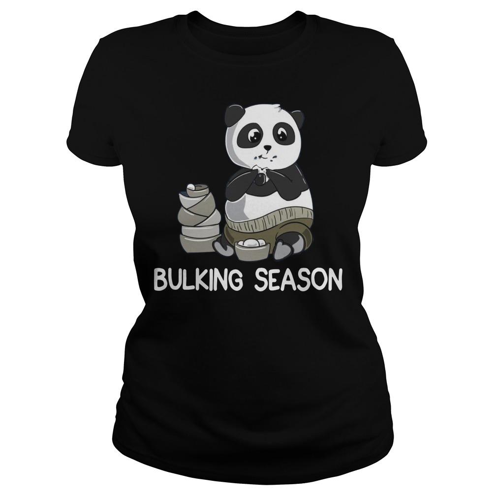 Bulking Season PandaFunny Weightlifting Gym Ladies t-shirt