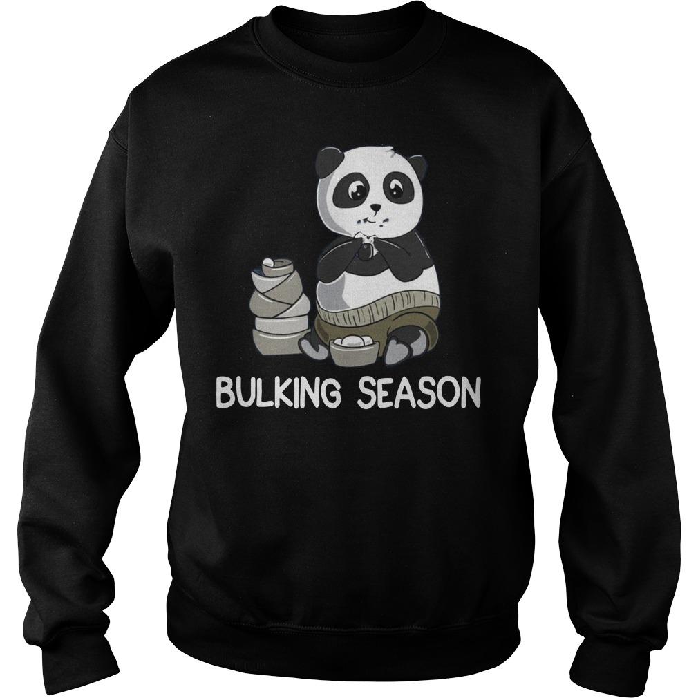Bulking Season PandaFunny Weightlifting Gym Sweater