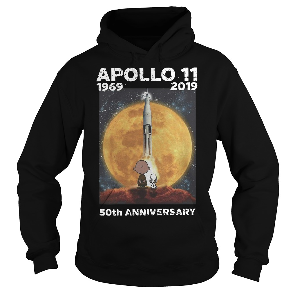 Charlie and Snoopy Apollo 11 50th anniversary Hoodie