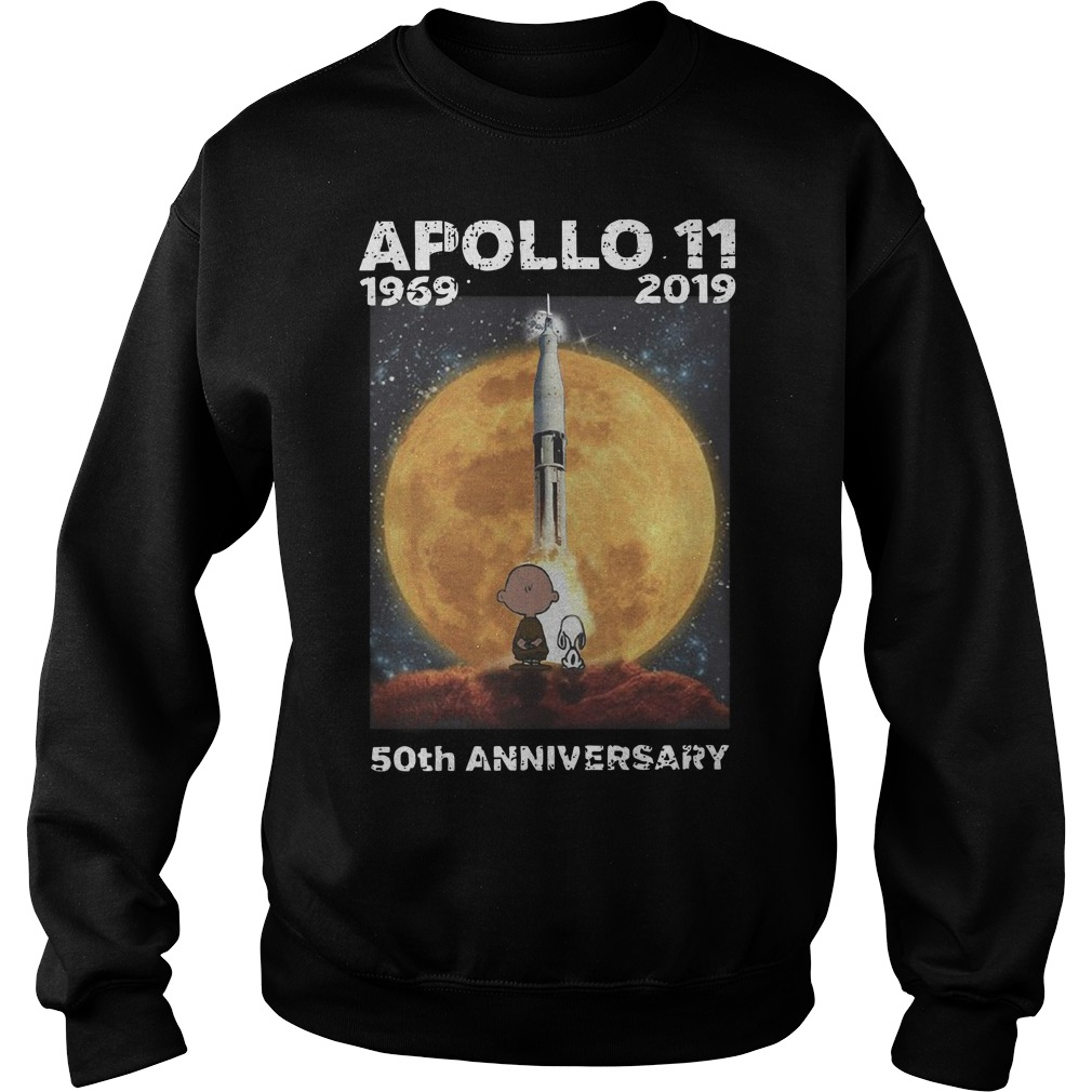 Charlie and Snoopy Apollo 11 50th anniversary Sweater