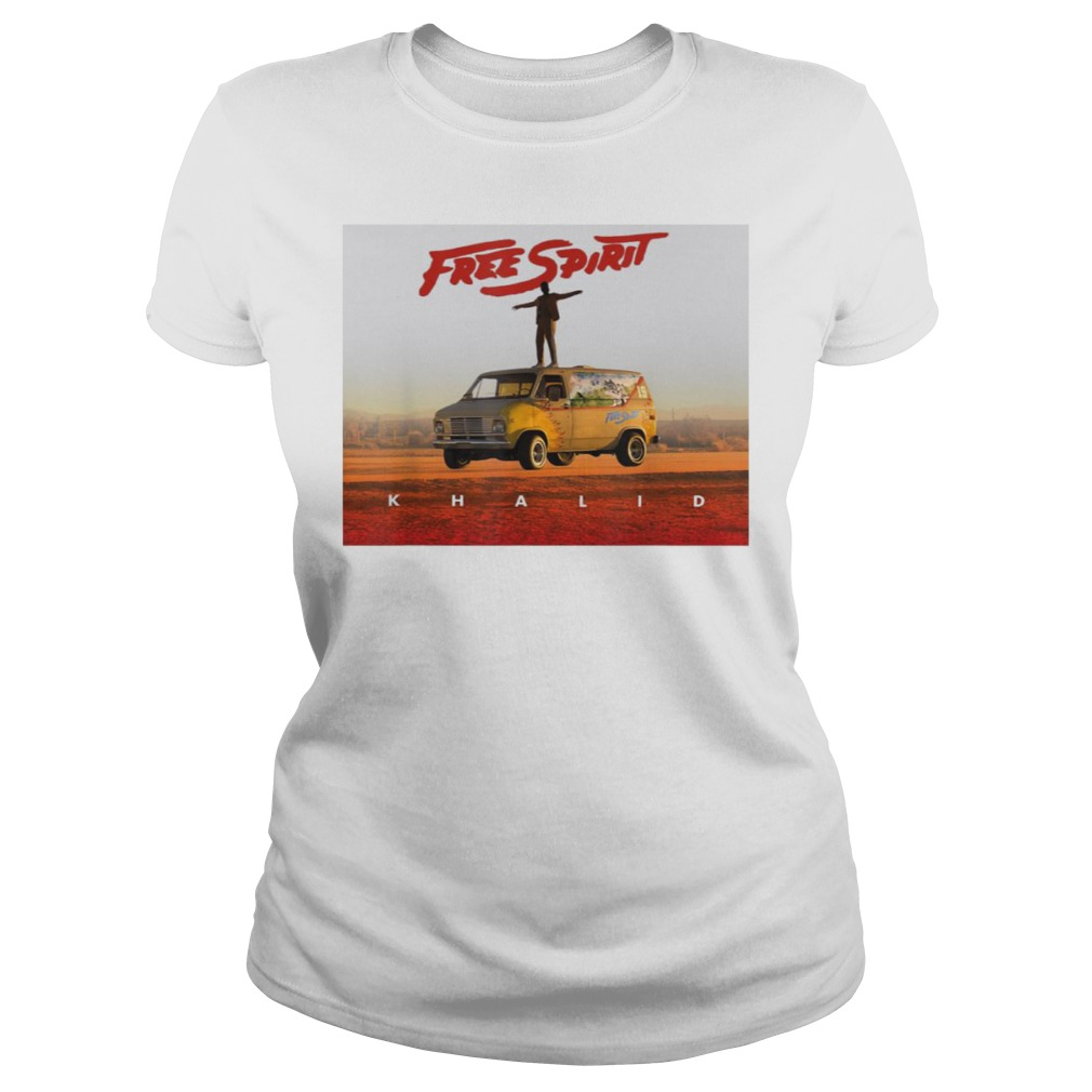Country American teen fan lovely Khalid Free Spirit Ladies t-shirt