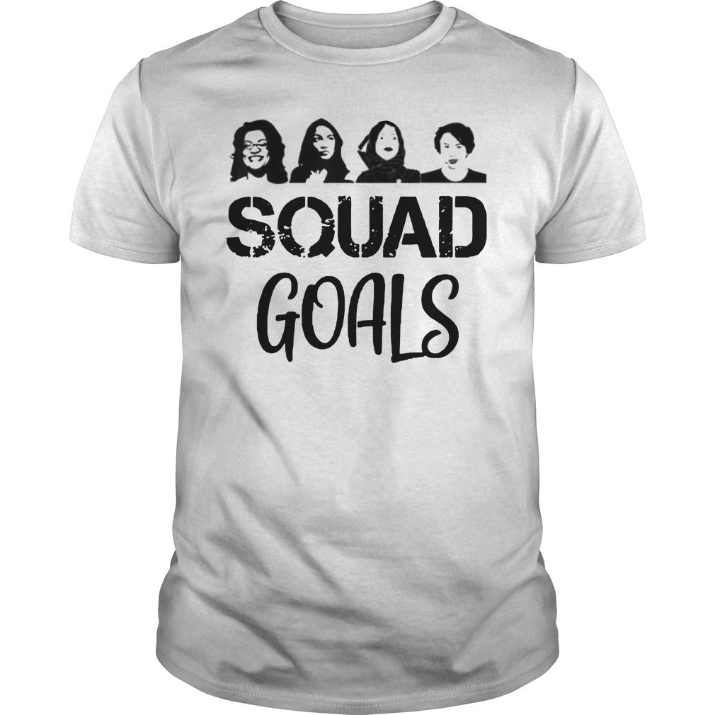 Feminist Squad Goals Ocasio Cortez Tlaib Pressley Omar Guys t-shirt